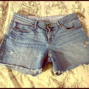 Gap 1969 Boyfriend Cut Off Jean Shorts Size 12 /31
